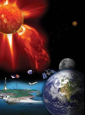 Výtrysky sluneční energie a částic orientované k Zemi mohou napáchat velké škody na našich technologiích (Credit NASA)