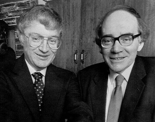 Obrázek prvního pokusu z r. 1926 jsme nenašli, tak alespoň druhý pokus - Martin Fleischmann a Stanley Pons z r. 1989 (Credit © ITER Organization, http://www.iter.org/)