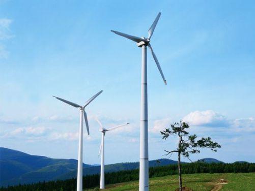 Areál větrných elektráren ČEZ na Mravenečníku v Jeseníkách (Foto: ČEZ)