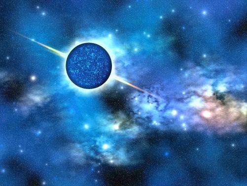 Výtvarná vize neutronové hvězdy (Zdroj Shutterstock)
