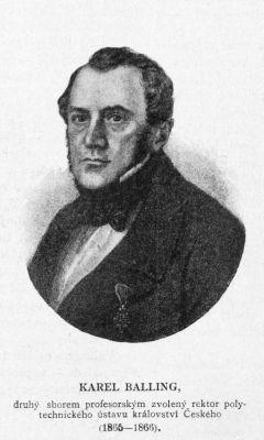 Karel Josef Napoleon Balling, český a rakouský chemik (zdroj Wikimedia Commons)