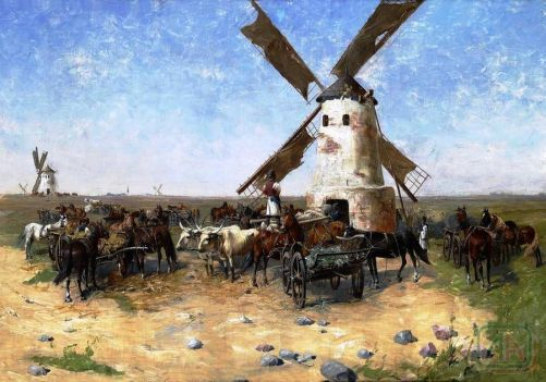 Historické vyobrazení života v maďarské pusztě (archiv autora)