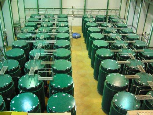 Sklad použitého paliva JE Dukovany po 25 letech provozu elektrárny (zdroj ČEZ)