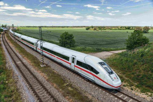 Nejdelší sestava ICE-4 na trati Mnichov-Hamburk (foto Siemens.com/press)