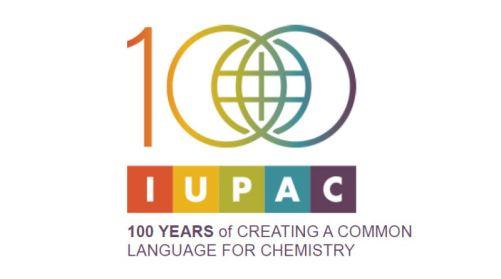 Logo 100 let Mezinárodní unie pro čistou a aplikovanou chemii