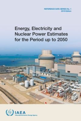 Titulní stránka publikace IAEA (Zdroj: INTERNATIONAL ATOMIC ENERGY AGENCY, Energy, Electricity and Nuclear Power Estimates for the Period up to 2050, Reference Data Series No. 1, IAEA, Vienna (2019))