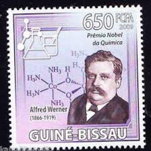 Pamětní známka s portrétem Wernera k udělení Nobelovy ceny (archiv autora)