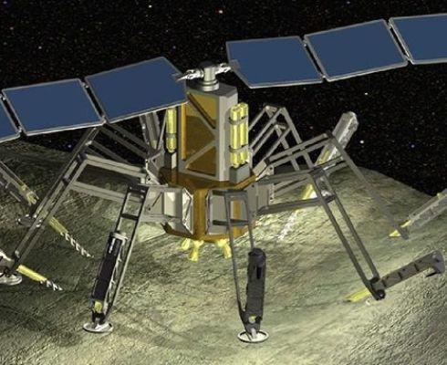 """Experimentální sonda WINE vrtá do asteroidu, získává vodu a používá ji pro parní pohon. Může to teoreticky dělat donekonečna, dokud je dostatek vody a nízká gravitace. Honeybee Robotics nazývá zařízení """"Pavoučí systém extrakce vody"""" (The Spider Water Extr"""