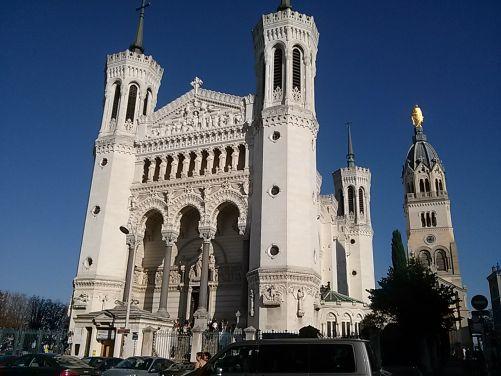 Katedrála Fourviére v Lyonu (foto autorka)