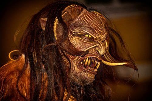 Krampus, představa ďábla (zdroj Pixabay)