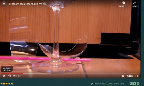 Fyzika je mocný nástroj - zvuk může roztříštit skleničku na víno (zdroj ČEZ)
