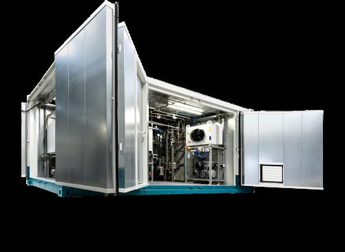 LOHC StorageBOX na vodík pro finský projekt HySTOC HRS v Kokkola (Copyright: Hydrogenious LOHC Technologies. Více o HySTOC projektu: www.hystoc.eu)