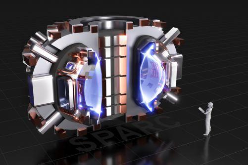 Řez kompaktním tokamakem SPARC se silným magnetickým polem (12 T) navrhovaný týmem Massachusetts Institute of Technology ve spolupráci se soukromou Commonwealth Fusion Systems. (Kredit: CFS / MIT-PSFC - CAD Rendering od T. Hendersona)