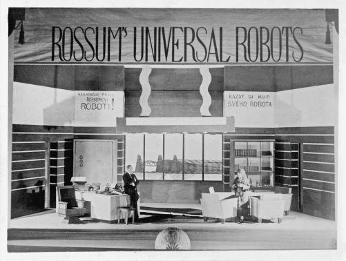 Kancelář Harryho Domina v prologu R.U.R. je symbolem technické civilizace (zdroj: Památník Karla Čapka)