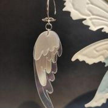 Náušnice Andělská křídla (foto Trash Made)