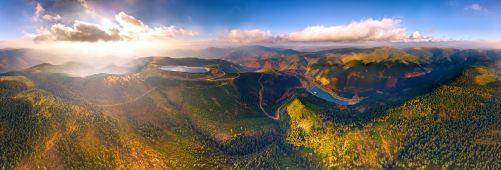 Pohled na přečerpávací elektrárnu Dlouhé stráně v Jeseníkách z ptačí perspektivy (zdroj ČEZ)
