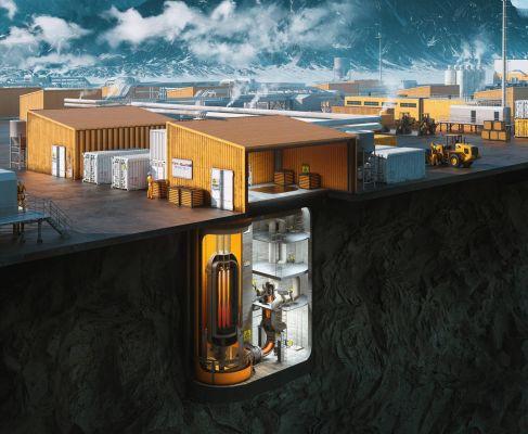 Modulární mikroreaktor navržený organizací Ultra Safe Nuclear Corporation pro Illinois a Idaho (zdroj USNC)