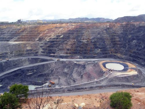 Ranger 3, povrchový uranový důl v severní Austrálii (zdroj: Geomartin via Wikimedia (CC BY-SA 3.0))