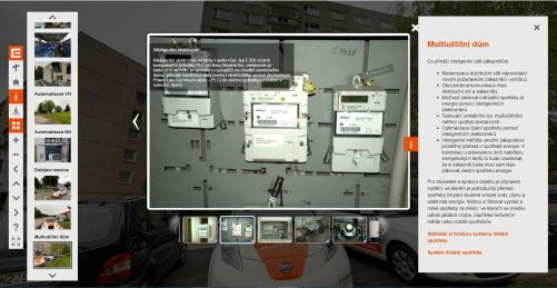 Jedna z obrazovek informační virtuální prohlídky Smart Region Vrchlabí (zdroj ČEZ)