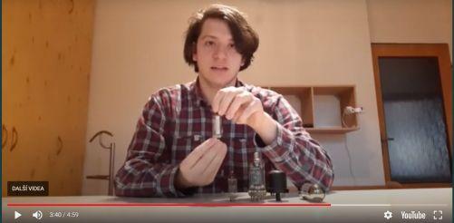 Štěpán zvítězil s pokusem na téma termoemise (foto ČEZ)