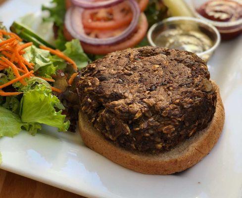 Vegetariánský hamburger, ilustrační obrázek (zdroj Pixabay)