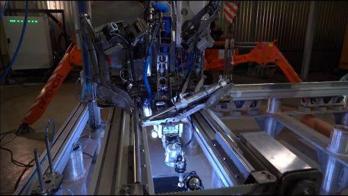 Zkoušky podvodního svařovacího robota v jaderné elektrárně Sosnovyj Bor (zdroj Rosatom)