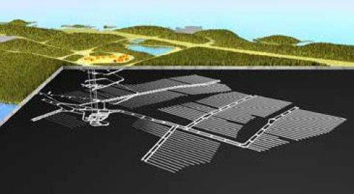 Kresba budoucího úložiště Onkalo v průřezu (Zdroj Posiva)
