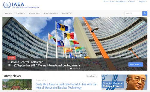 web stránka IAEA