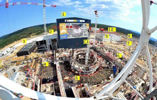 Staveniště tokamaku ITER, léto 2017 (Credit © ITER Organization, http://www.iter.org)