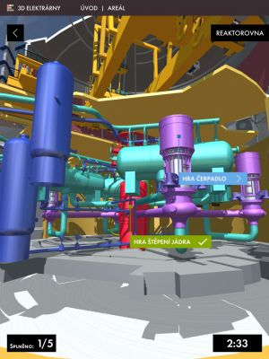 Součástí aplikace jsou interaktivní hry a znalostní kvízy (zdroj Simopt)