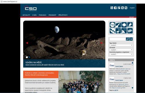 Titulní stránka www.czechspace.cz