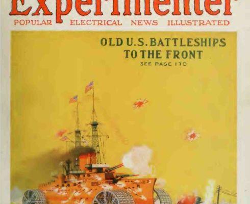 Titulní stránka jednoho z čísel amerického časopisu Electrical Experimenter z počátku minulého století