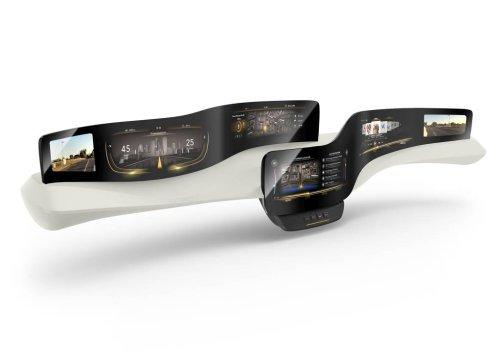 Přístrojový panel budoucnosti: neviditelná tlačítka Morphing Controls v interiéru automobilu (zdroj Continental)