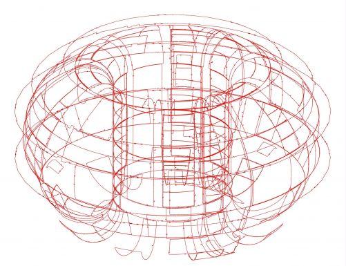 Na vnitřních plochách vakuové nádoby bude umístěno více než 200 magnetických smyček, aby zaznamenaly změny magnetického toku způsobené plazmatem. (Credit © ITER Organization, http://www.iter.org/)